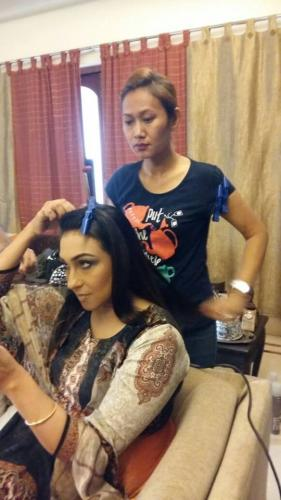 Rituparna Sengupta hair do