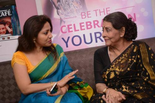 Director Mousumi Mitra with veteran actress Supriya Devi at Be Bonnie