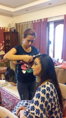 Rituparna Sengupta hair do